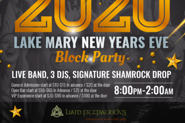 2020 Lake Mary New Year's Eve Block Party