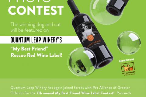 "Pet Alliance Of Greater Orlando Kicks Off Orlando's Cutest Pet Photo Contest: The 2020 ""My Best Friend Wine Label Contest"""